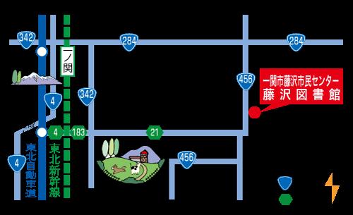 交流センターの案内地図